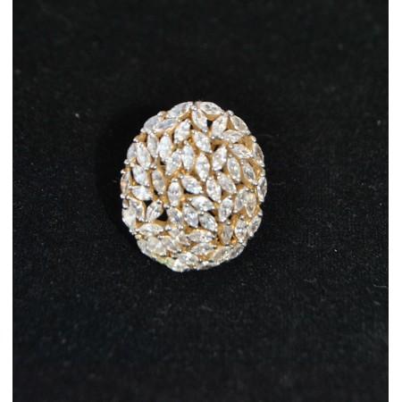 Floral Diamond Dangler Earrings