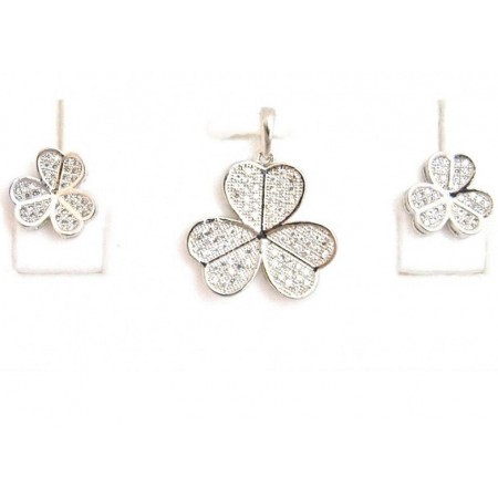 Hearts of Flowers Pendant Set