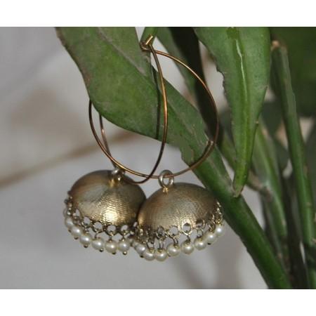 Hoop Jhumka Earrings