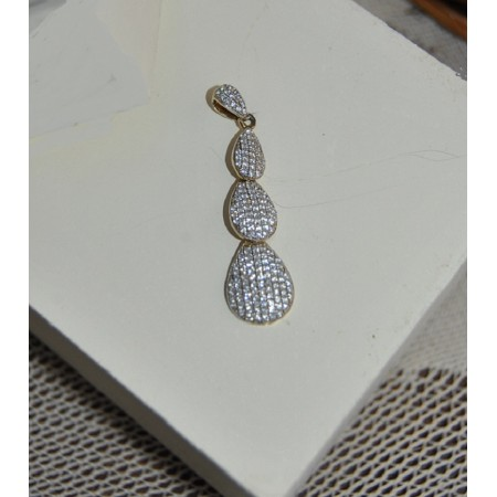 Sterling Silver Pendant studded with American Diamonds