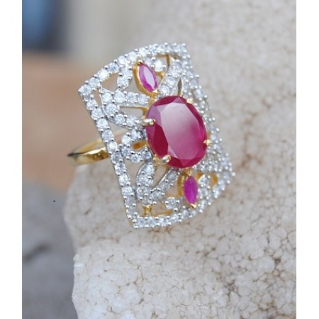 Designer Ruby Diamond Ring