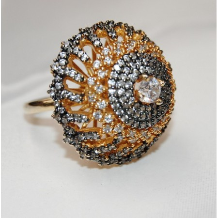 Black Gold Diamond Cocktail Ring