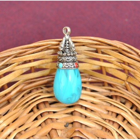 Blue Gemstone Pendant
