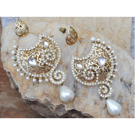 Gold Bollywood Earrings