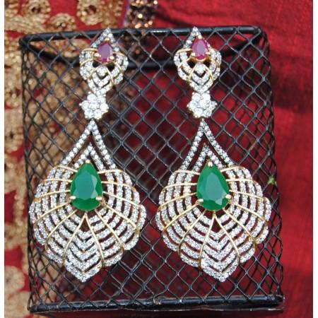 Emerald Drop Diamonds Earrings