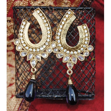 Horsehoe Drop Earrings