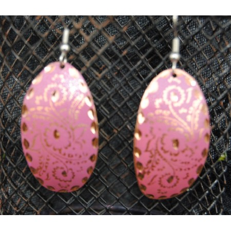 Pink Gold Turkish Earrings