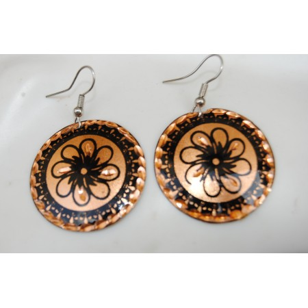 Black Gold Turkish Earrings