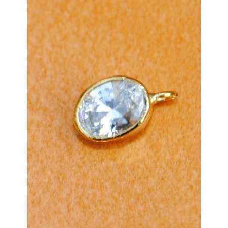 Single Stone American Diamond Nath or Nose Ring