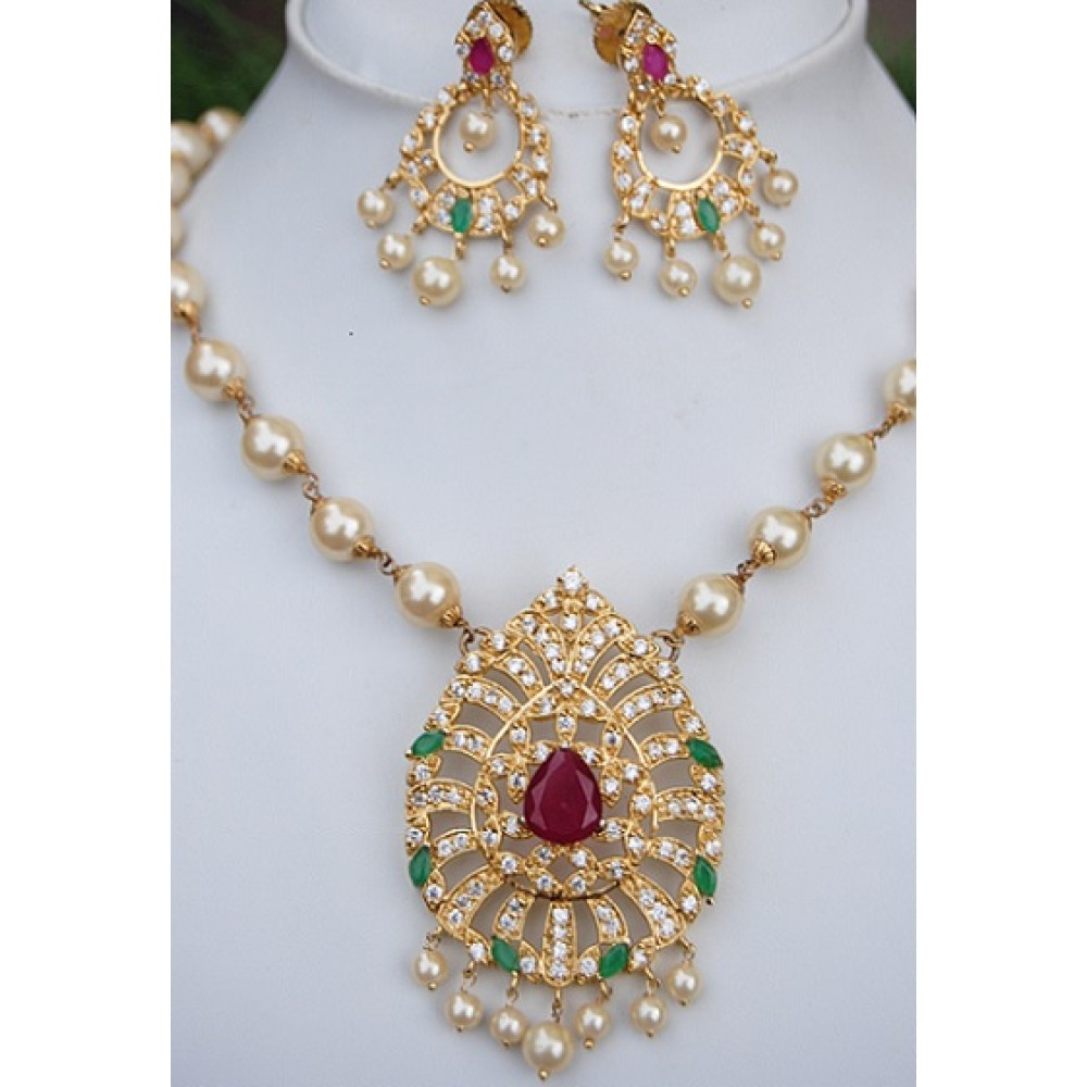 long set maalyaa gold plated necklace