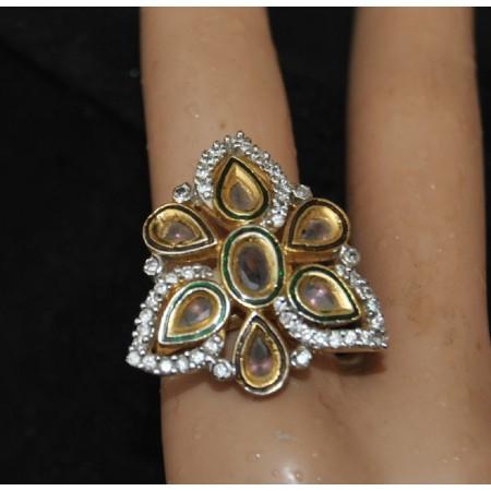 Kundan Studded Diamond Rind