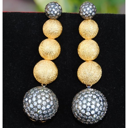 Gold Ball Dangle Earrings