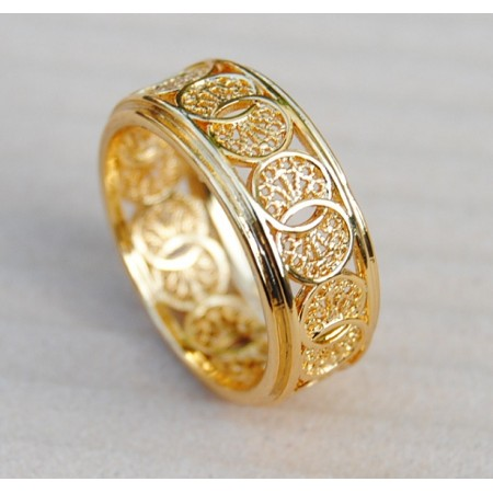 18K Gold Plated Designed Ring
