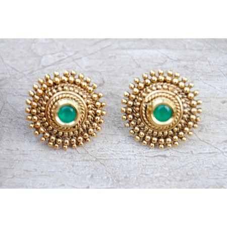 Antique Gold Stud Earrings