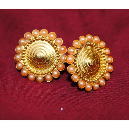 Golden Pearl Gold Stud