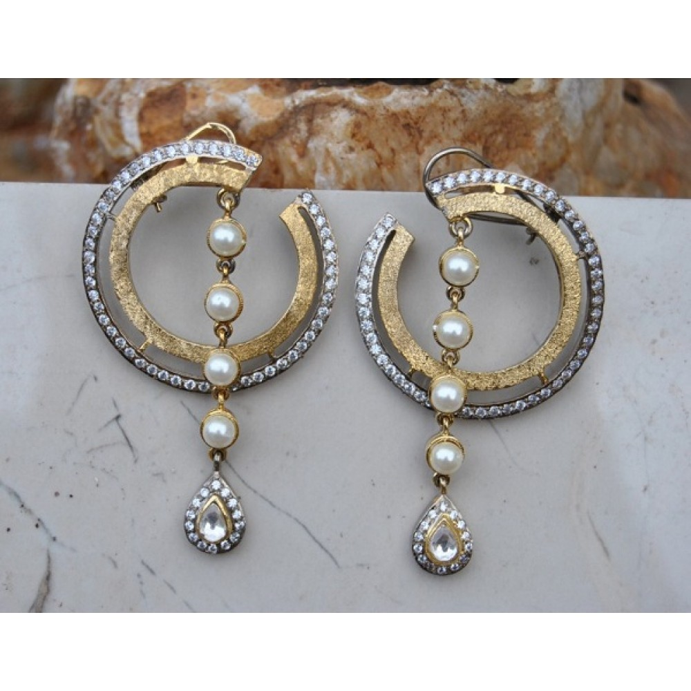 fancy designer from earrings gold pin designs studs ear manubhai