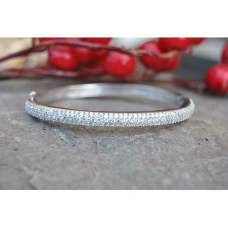 Delicate Silver Diamond Bracelet