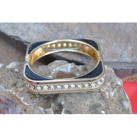 Gold Plated Square Diamond Bracelet