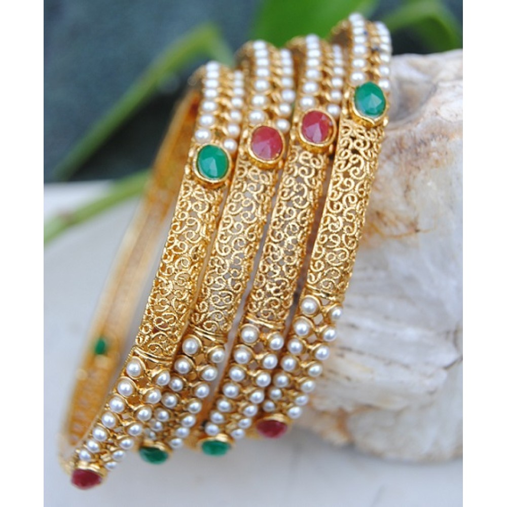 floral jewelry emerald bangles shopping bangle and tholakshi online ruby
