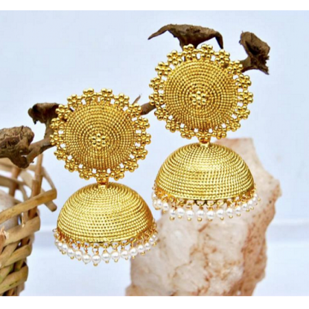 Big Stud Gold Jhumkas