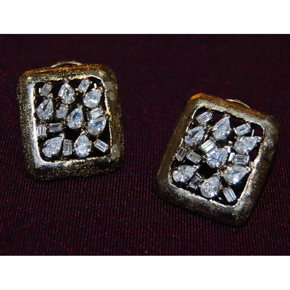 diamond designer stud earrings