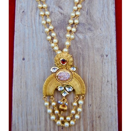 Antique Chand Pendant Set with Jhumkas