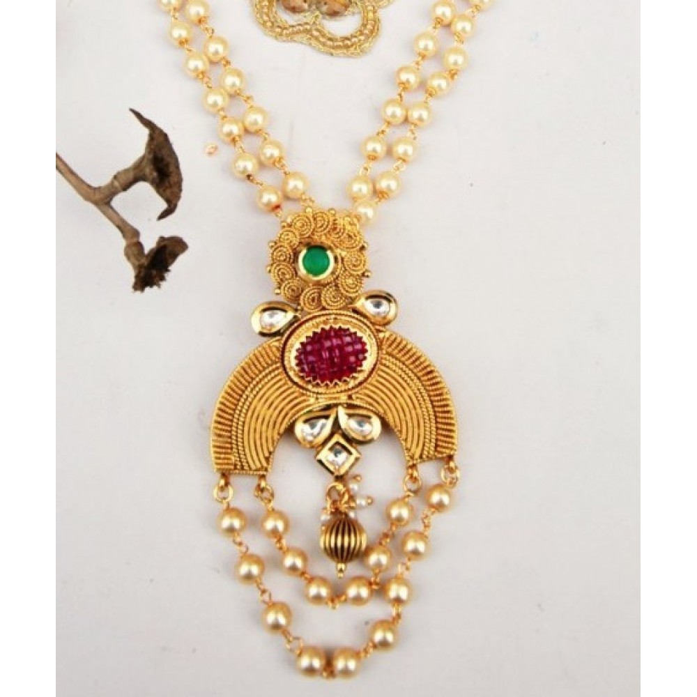and gm vinayaka plated antique full index gold emerald img ad necklace one ruby set