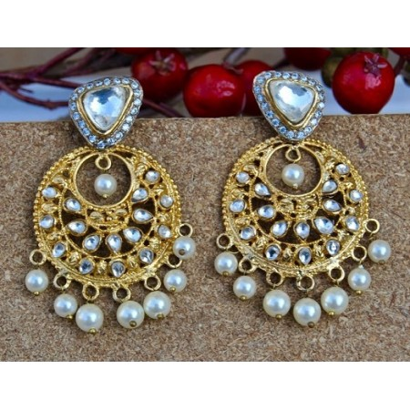 Sterling Silver Chand Bali Earrings