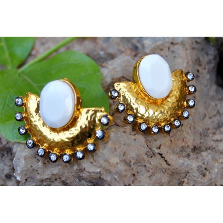 White Onyx Golden Ear Jackets