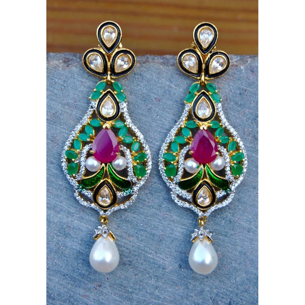 d21b9ee13 Multigemstone Kundan Earrings