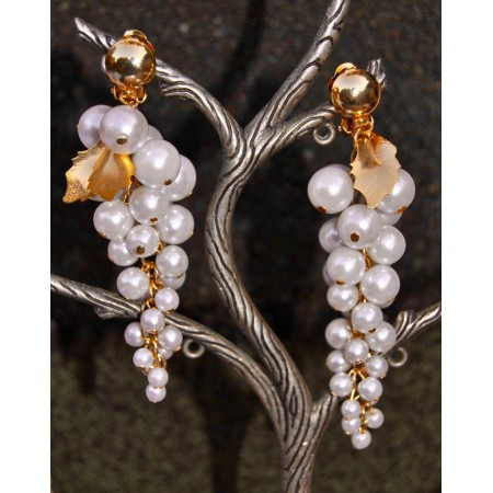 Pearl Bunched Dangler Earrings