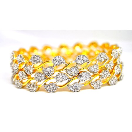American Diamond Leaf Bangles
