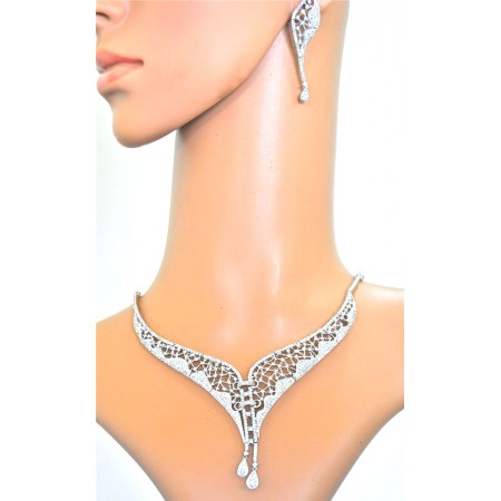 Victorian Inspirations Diamond Necklace Set