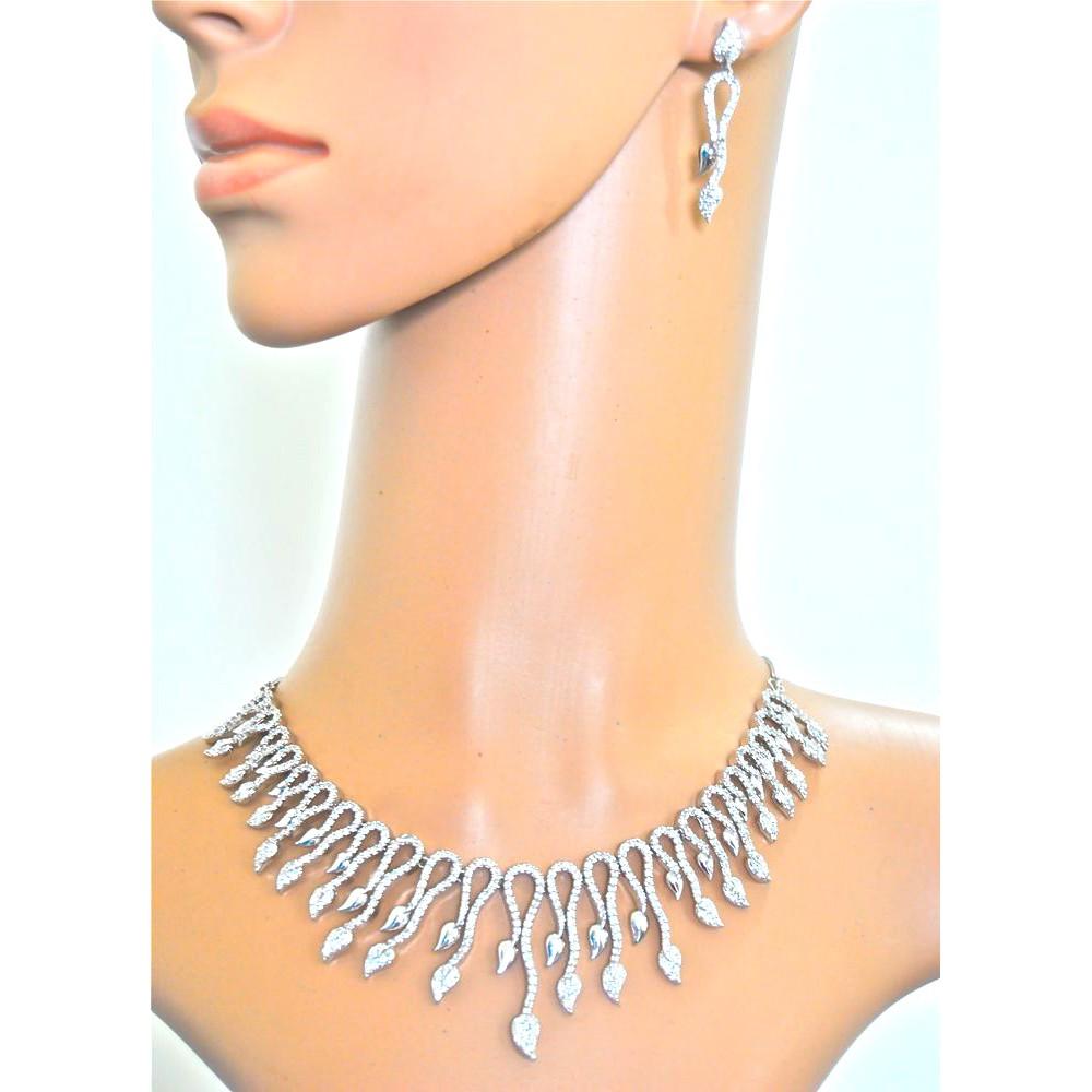 1986986e80 american diamond necklace set