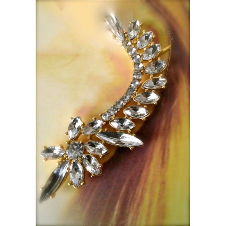 Rhinestone Ear Cuff Earrings