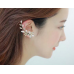 Flower Shape Rhinestone Right Ear Cuff Clip Golden Earring Stud