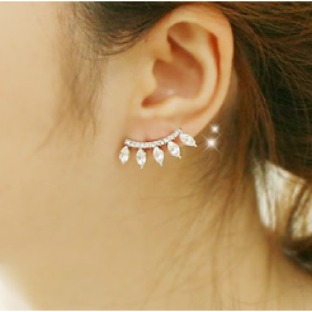 Diamond Eyelash Stud Earrings