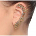 Leaf Diamond Lined Ear Cuff Earrings