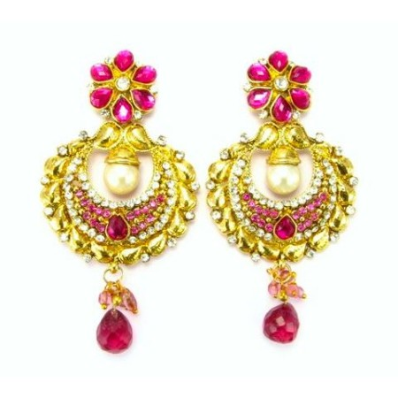 Ethnic Designer Gold Earrings