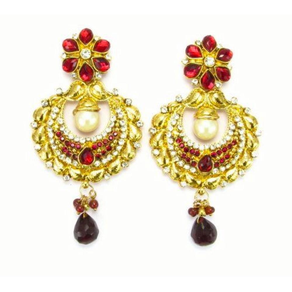 Ethnic Designer Gold Earrings