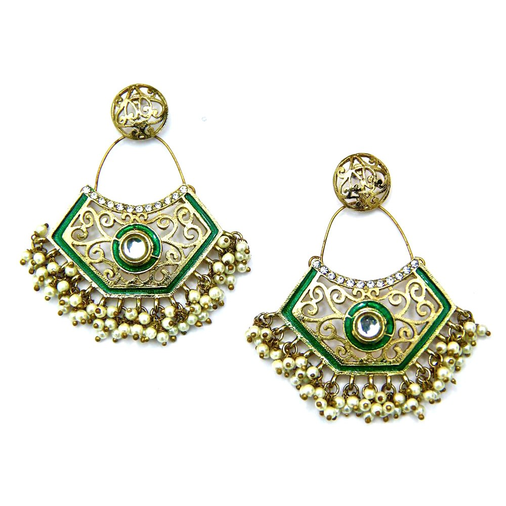 earrings for stud pendant picture green women folwer gold of pair decor ebay p tone s