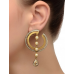 Two Tone Sterling Silver Designer Earrings