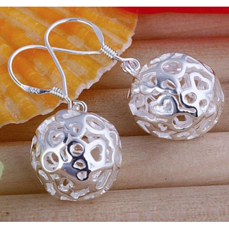 Sterling Silver Ball Dangle Earrings