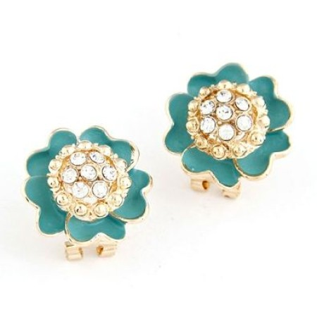 Floral Sparkly Stud Earrings