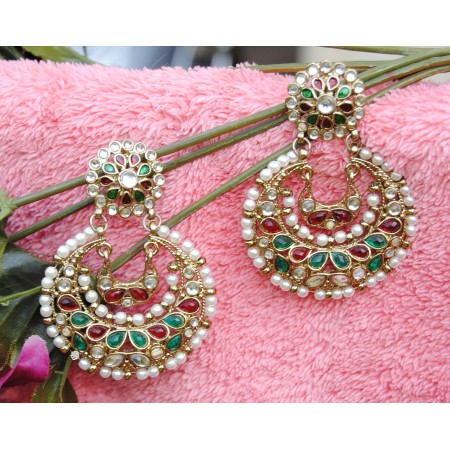 Multicolor Chand Bali Earrings
