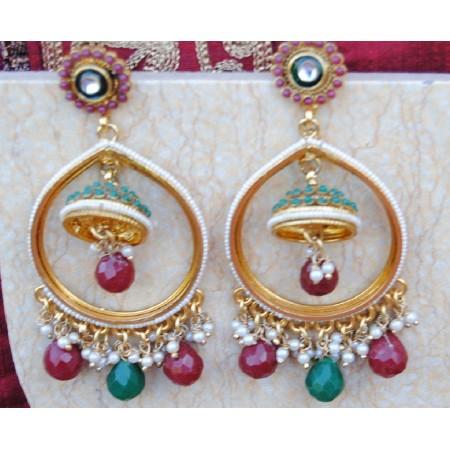 Colorful Drop Jhumka Earrings