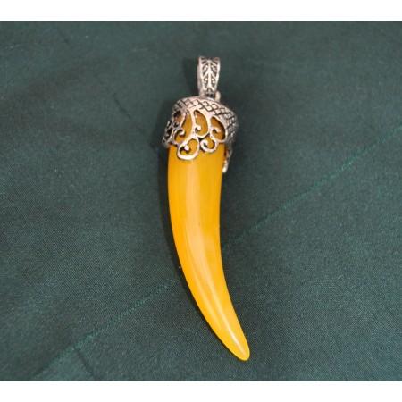 Yellow Horn Shaped Pendant