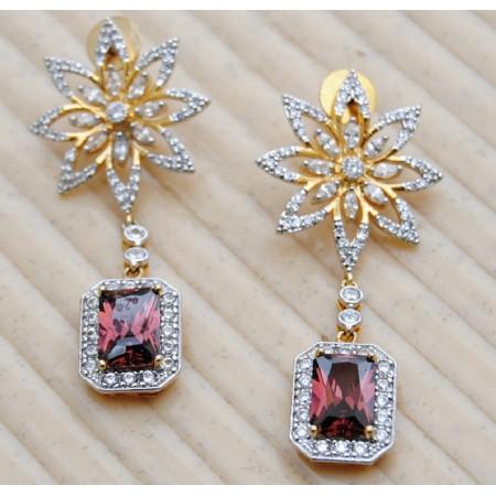 Diamond Gold Flowers