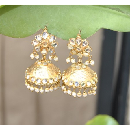 Jhumka Earrings with Pearls