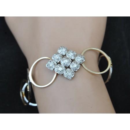 Diamond Shaped Ring Cum Bracelet